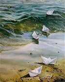 Oil painting Return Varvarov Anatoly Viktorovich