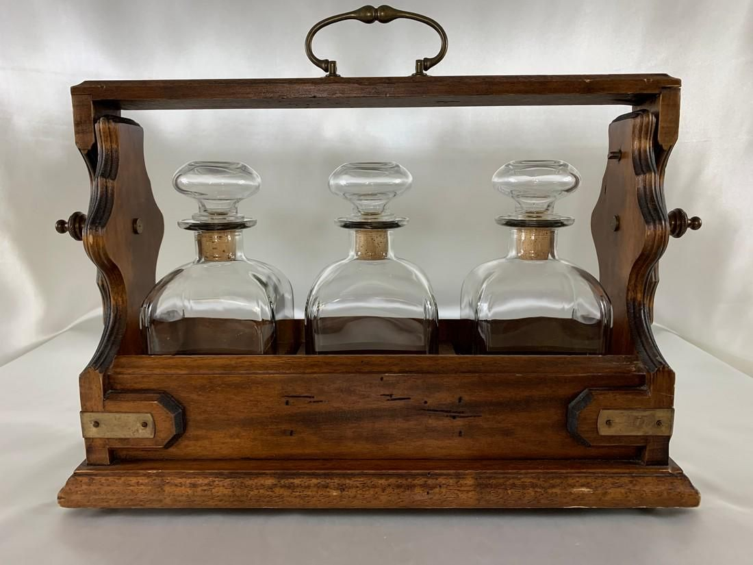 Liquor Tantalus Decanter Set
