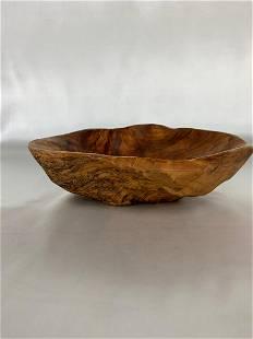 Natural Knotty Wood Burl Bowl