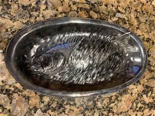 Silver Fish Serving Dish