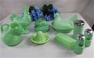 Jadeite Glass Grouping