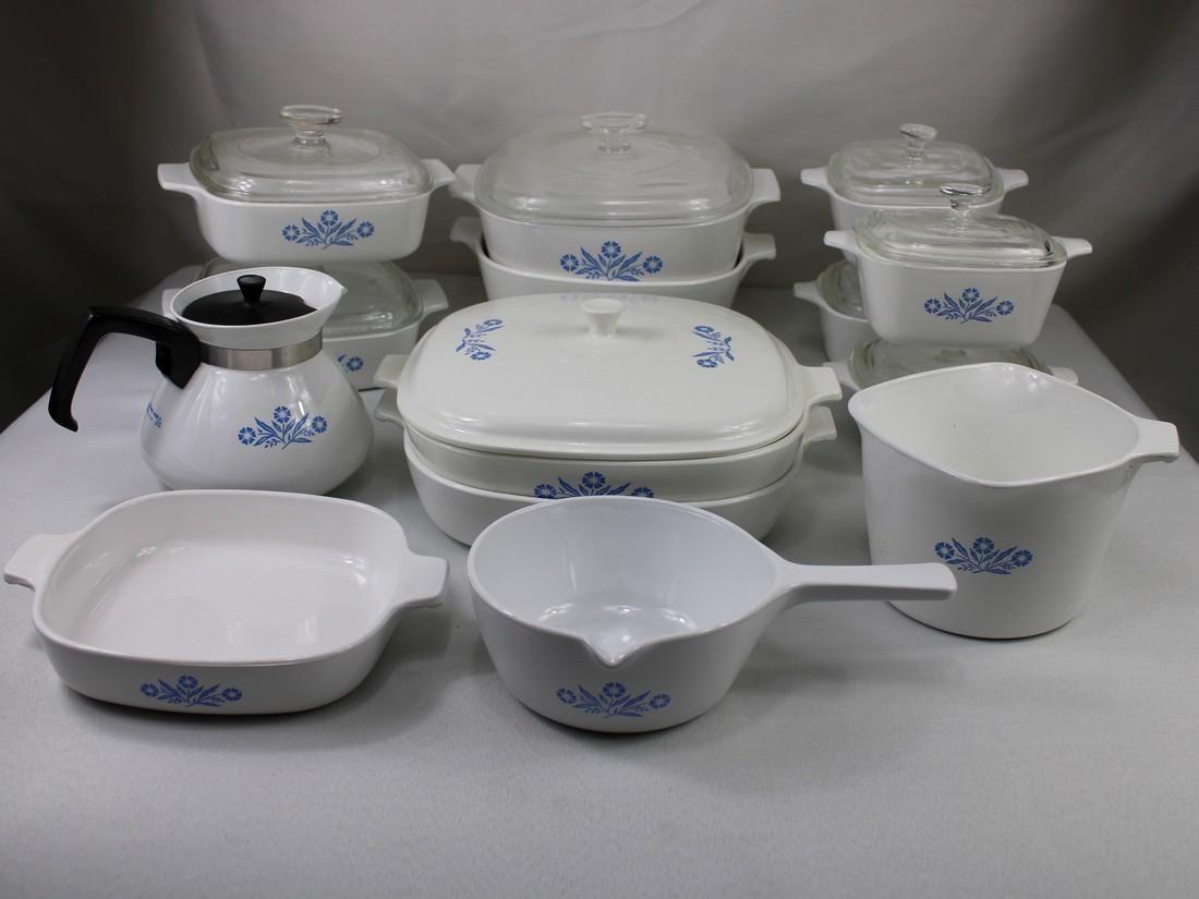 "Corning Ware ""Blue Cornflower"" pattern Dish Set"