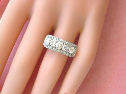 ART DECO 1.08ctw BRILLIANT DIAMOND PLATINUM FANCY &
