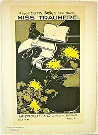 PRICE CUT 2X!! 1895 BOOK ADVERTISING POSTER - MISS