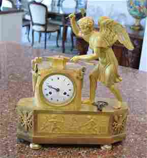 Exquisite Circa 1800 French Angel Arrow maker Clock