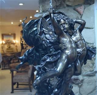 L'Amour Vainqueur Antique Bronze Sculpture Adolphe