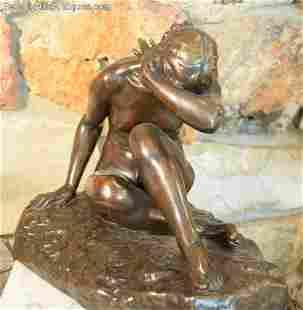 Emile Ferdinand-Dubois 1869-1952 Devant Lamour Bronze