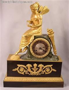 Ultimate Extraordinary Antique Gilt Bronze French Clock
