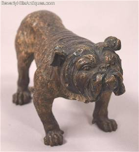 Large Antique Cold Painted Vienna Bronze English