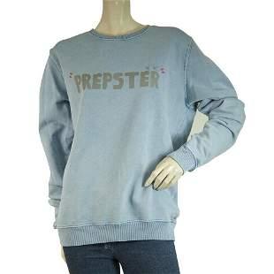 Project E Blue Cotton Prepster Sweatshirt Mens Top size