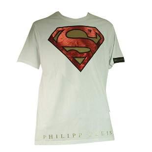 Philipp Plein & DC Comics White Superman Short Sleeve