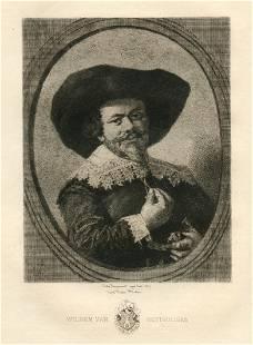 "Jules Jacquemart etching ""Wilhem van Heythuijsen"" Frans"