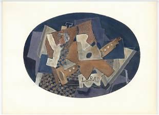 """Georges Braque pochoir """"Nature morte"""""""