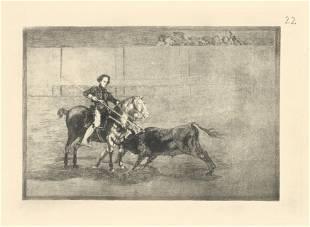 "Francisco Goya ""Tauromaquia"" Plate 22"