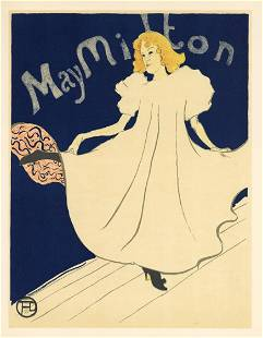 """Toulouse-Lautrec lithograph poster """"May Milton"""""""