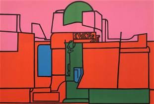 Valerio Adami original lithograph, 1970