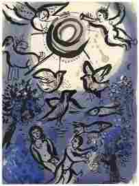 Marc Chagall Original Lithograph, Creation for Drawings