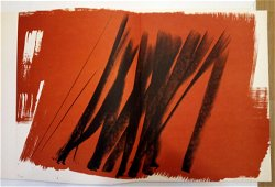 Hans Hartung Signed and numbered Original Lithograph