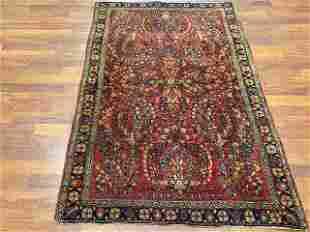 Antique Persian Sarouk rug-4697