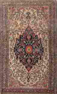 1920 Antique Floral Sarouk Farahan Persian Hand-Knotted