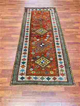 Antique kazak caucasian rug-3760