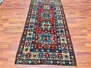 Antique Lesghi Kazak Caucasian rug-4732