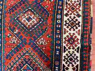 Antique Kazak caucasian Rug-4869