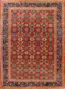 1920 Antique 9x12 Sultanabad Persian Area Rug