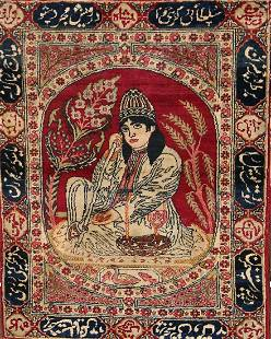 1920 Antique Minatory Ravar Kerman Persian Rug 2x3