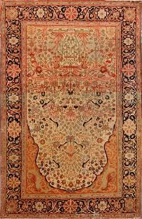 4x7 Kashan Mohtashem Persian Area Rug