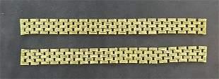 18k Yellow Gold Van Cleef Bracelet Pieces