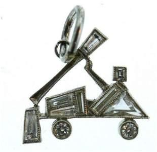 Platinum Diamond Truck Charm
