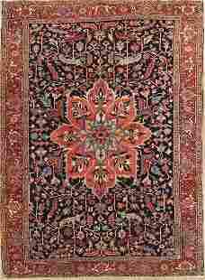 Vintage 9x12 Heriz Serapi Persian Area Rug