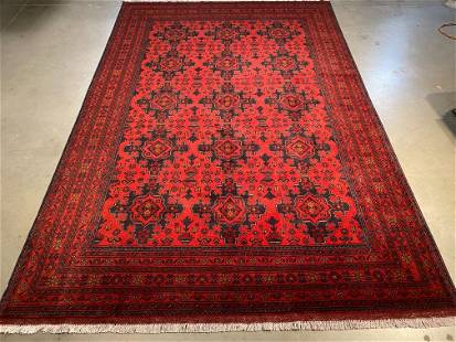 """EXQUISITE AFGHAN RUG 6'.7""""X9'.9"""""""