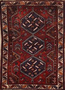 Vintage 4x5 Shiraz Persian Area Rug