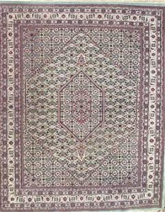 Modern Persian Hand Knotted Bijar Rug, Wool Pile, 10' x