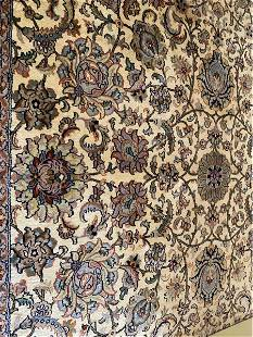Very Fine Hand Knotted Kashmir Silk rug 6x9 ft.