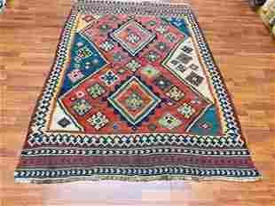 Colorful Vintage Persian quashqaie Kilim rug-2251