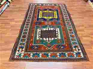 Vintage Facharlo kazak Caucasian Rug-4771