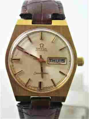 Vintage 18k GP OMEGA SEAMASTER Automatic Watch c.1970s