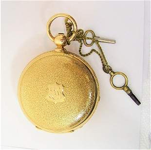 Antique Solid & Heavy 18K Gold ENGLISH JOHN MONCAS Full