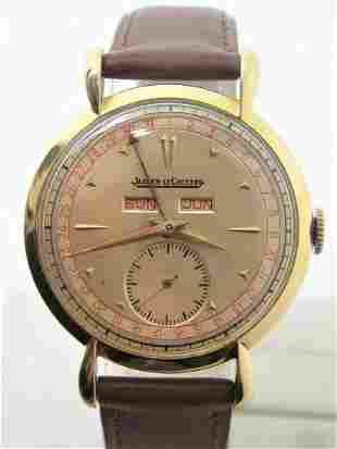 Vintage 18k Gold JAEGER-LeCOULTRE Triple Calendar