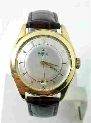 Vintage 18k GUBELIN Automatic Watch 1950s * EXLNT*