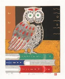 YOSHIHARU KIMURA (B. - 1934) - BOOK WISE OWL