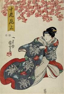 Utagawa KUNIYOSHI (1798-1861); Actor in the role of