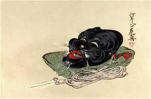 Shibata ZESHIN (1907-91); Okina Long-life mask