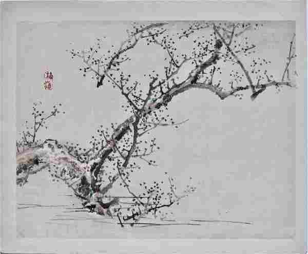 Bairei: Flowering Tree by Water