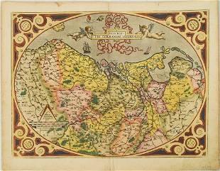 1598 Ortelius Map of the Low Countries -- Descriptio