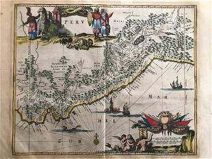 Peru by Arnoldus Montanus, 1671, Amsterdam
