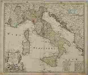 1742 Homann Map of Italy -- Italia in suos Status